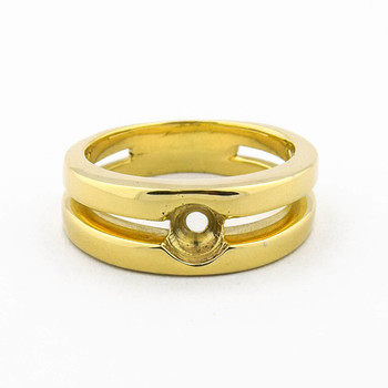 14K Yellow Gold 14.40 Grams High Polished Men's Mount Ring