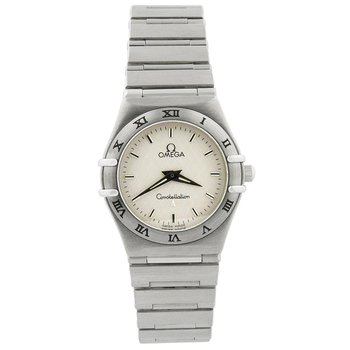 Omega Lady Constellation Manhattan Stainless Steel 25mm Silver