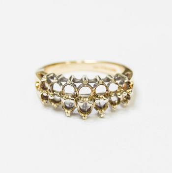 14K Yellow Gold 3.10 Grams Mount Ring