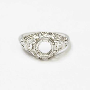 Platinum 3.70 Grams Vintage Inspired Mount Ring