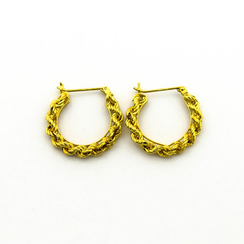 14K Yellow Gold1.60 Grams Rope Chain Style Earrings