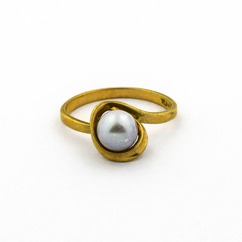 14K Yellow Gold 2.05 Grams Pearl Ring