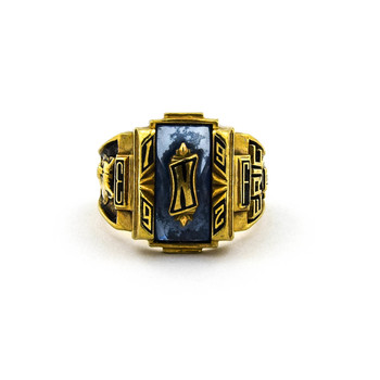10K Yellow Gold 12.19 Grams Ring w/ Colored Center Stone
