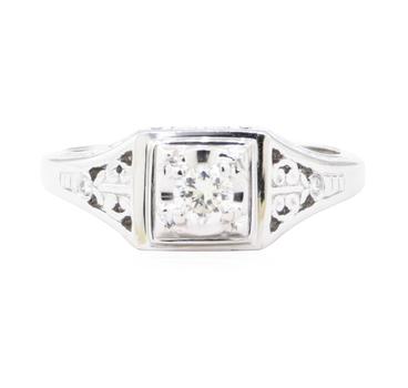 Platinum 8.20 Grams Diamond Ring
