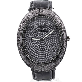 Diamond King Stainless Steel Back Mens Watch