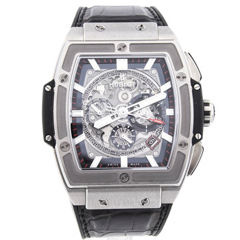 Hublot Spirit of Big Bang Mens 51x45mm Skeleton Dial Titanium 601.NX.0173.LR