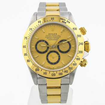 Rolex Daytona Mens 40mm Champagne Dial 18kt Yellow/Steel 16523
