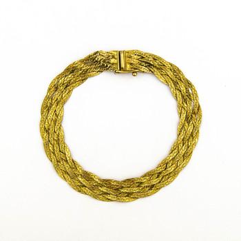 14K Yellow Gold 8.75 Grams Braided Style Lady's Bracelet