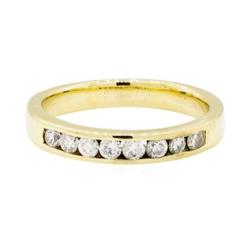 14K Yellow Gold 5.15 Grams Channel Set Round Diamond Wedding Band