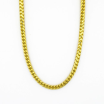 14K Yellow Gold 46.60 Grams Fox Tail Style Chain Necklace