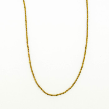 14K Yellow Gold 5.00 Grams Rope Chain Style Necklace