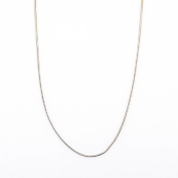 14K White Gold 3.60 Grams Chain Necklace