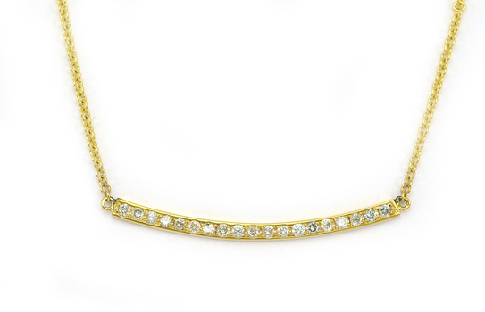 14K Yellow Gold 4.90 Grams Diamond Necklace
