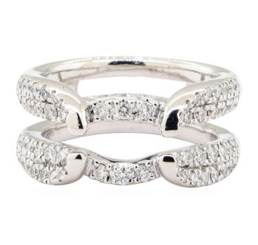 14K White Gold 8.10 Grams Diamond Split Shank Ring