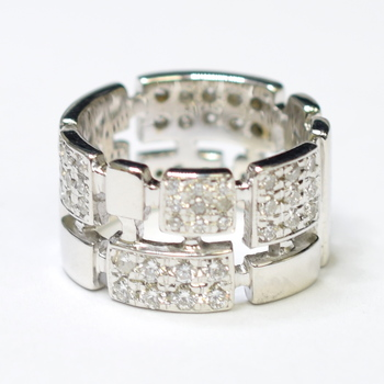 18K White Gold 13.70 Grams 2.00 Carats t.w. Round Diamond Ring