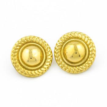 14K Yellow Gold 11.80 Grams High Polished Circle Earrings