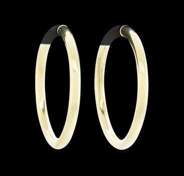 14K Yellow Gold 12.58 Grams High Polished Hoop Earrings