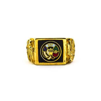 "14K Yellow Gold 19.65 Grams ""SES"" Men's Ring"