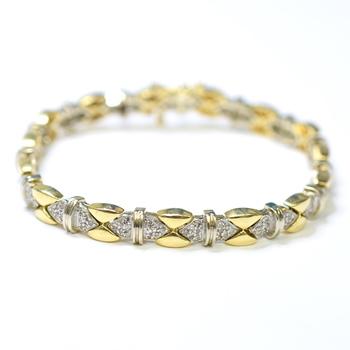 14K Yellow Gold 20.55 Grams 1.50 Carats t.w. Diamond Bracelet