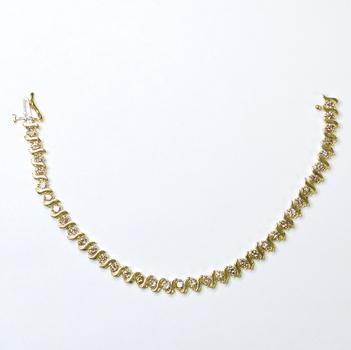14K Yellow Gold 15.96 Grams 4.00 Carats t.w. Diamond Tennis Bracelet