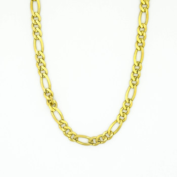 14K Yellow Gold 27.35 Grams High Polished Chain Necklace