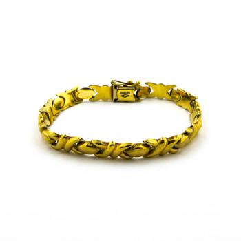 14K Yellow Gold 9.30 Grams Link Chain Style Bracelet