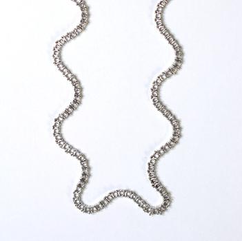 18K White Gold 24.80 Grams Semi - Mount Necklace