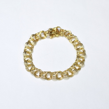 14K Yellow Gold 15.35 Grams Link Chain Style Bracelet