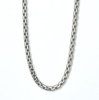 14K White Gold 38.30 Grams Link Chain Necklace 48 Inches