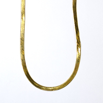14K Yellow Gold 16.05 Grams Flat Style Chain Necklace