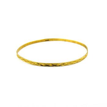 14K Yellow Gold 4.20 Grams Bangle Bracelet