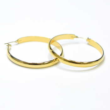 14K Yellow Gold 10.30 Grams High Polished Hoop Earrings
