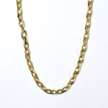 14K Yellow Gold 47.80 Grams Handmade Link Chain Necklace