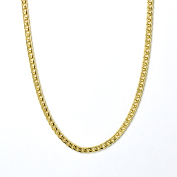 14K Yellow Gold 36.20 Grams Franco Style Link Chain Necklace