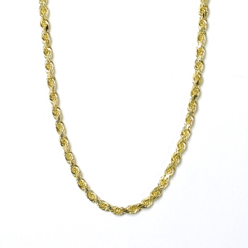14K Yellow Gold 50.60 Grams Rope Chain Style Necklace