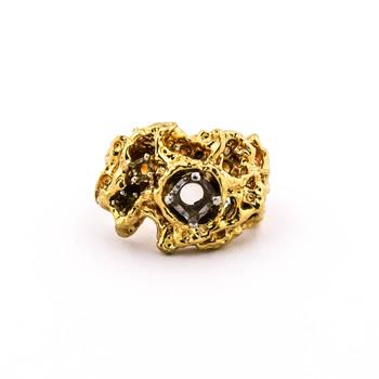 14K Yellow Gold 16.56 Grams Mens Ring Mounting