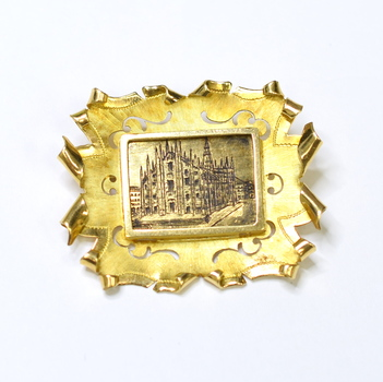 18K Yellow Gold 10.65 Grams Vintage Brooch/Pin