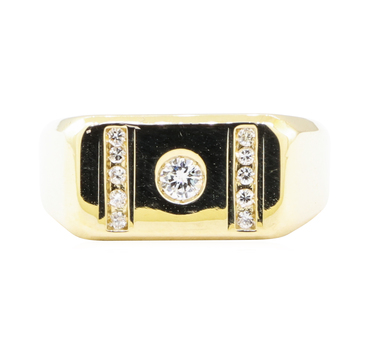 14K Yellow Gold 6.84 Grams Diamond Ring