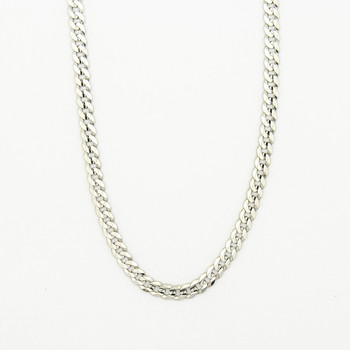 14K White Gold 21.40 Grams Link Chain Necklace