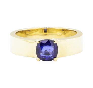 14K Yellow Gold 7.90 Grams Sapphire Ring