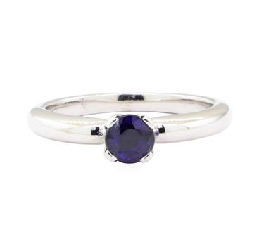 14K White Gold 3.52 Grams Sapphire Ring