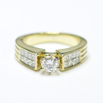 14K Yellow Gold 6.65 Grams 1.25 Carats t.w. Diamond Ring