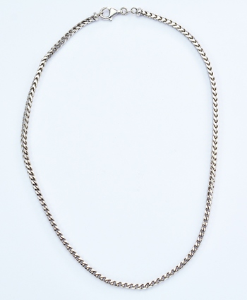 14K White Gold 22.78 Grams High Polished Spiga Chain Necklace