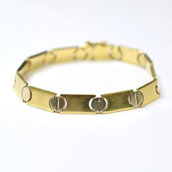 14K Yellow Gold 12.80 Grams Link Chain Style Bracelet