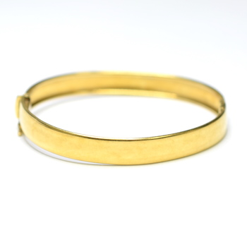 18K Yellow Gold 15.85 Grams High Polished Bangle Bracelet