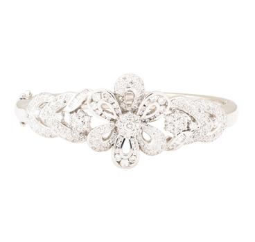 18K White Gold 37.60 Grams Diamond Bangle