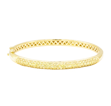 18K Yellow Gold 21.50 Grams Yellow Sapphire Bangle
