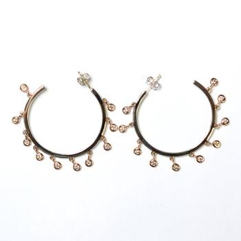 14K Two Tone Gold 8.60 Grams Chandelier Style Diamond Earrings