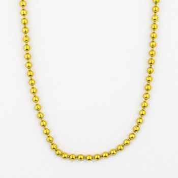 14K Yellow Gold 16.80 Grams Ball Link Chain Necklace