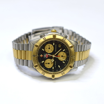 Tag Heuer 39mm Chronograph Stainless Steel and Gold Plated Mens Watch